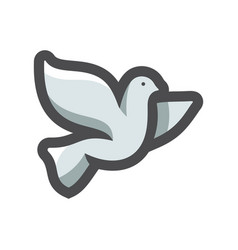 dove peace icon cartoon vector image