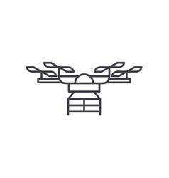 drone line icon concept drone linear vector image