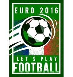 euro 2016 football championship background vector image