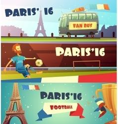 euro 2016 soccer banner set vector image