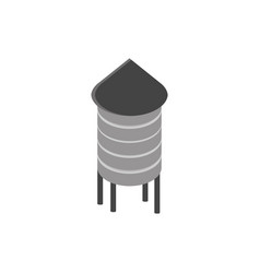 farm water tower rural isometric icon vector image