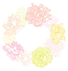 Frame with delicate roses vector
