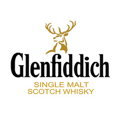 Glenfiddich whiskey brand vector