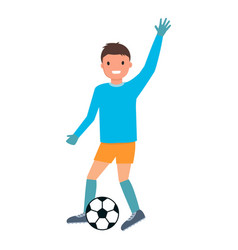 goalkeeper make pass icon flat style vector image