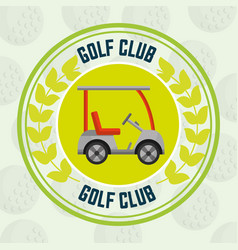 golf club car transport balls background emblem vector image