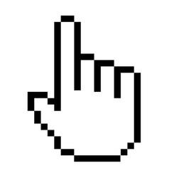 hand cursor click symbol digital pixel button vector image