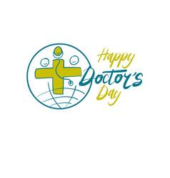 happy doctors day vector image