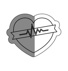 heart cardiology symbol icon vector image
