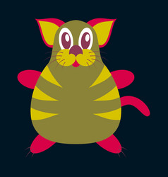 Icon in flat design toy cat vector