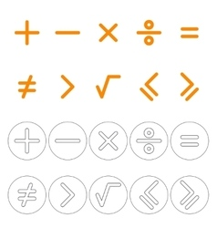 Icons mathematical signs vector