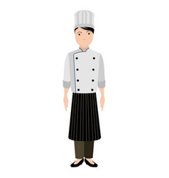 isolated chef avatar vector image