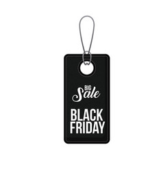 Isolated hanging tag of black friday design vector