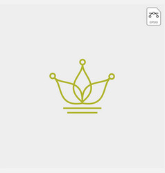 King or royal agriculture logo template vector