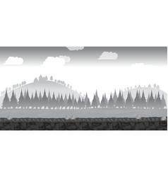 landscape for gamebackground for game black and vector image