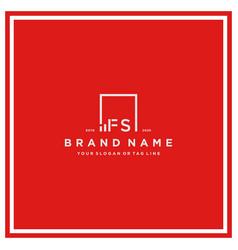 Letter fs square logo finance design vector