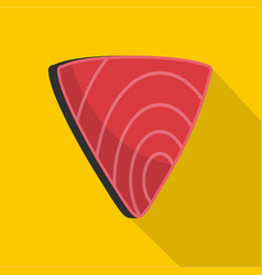 meat icon flat style vector image
