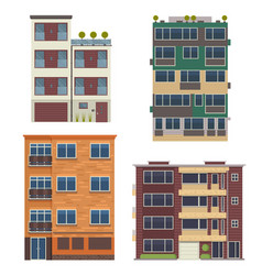 Modern living houses and apartment buildings vector