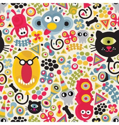 monster pattern vector image