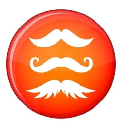 Moustaches icon flat style vector