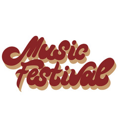 Music festival hand drawn lettering isolated vector