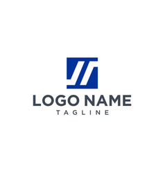 negative space letter s logo design inspiration vector image
