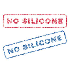 No silicone textile stamps vector