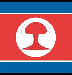 nuclear north korea vector image