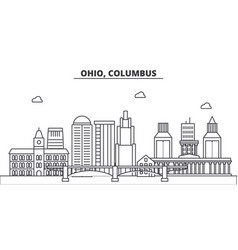 Ohio columbus architecture line skyline vector