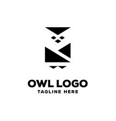 owl logo design template vector image