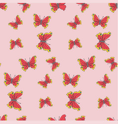 patten seamless with butterfly vector image