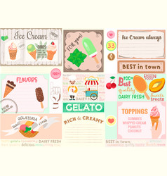 Plasemat ice cream theme for cafes bars vector