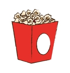 Pop corn box vector