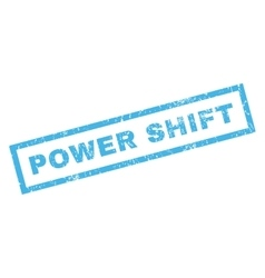 Power Shift Rubber Stamp vector