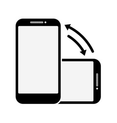 Rotate smart phone icon on a white background vector