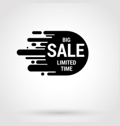 Sale sticker with hand drawn elements in white and vector