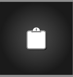 scale icon flat vector image