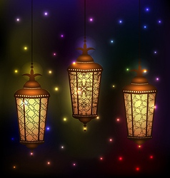 Set Arabic lamps for holy month of muslim vector image vector image