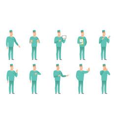 Set surgeon characters vector