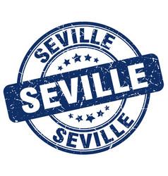 Seville blue grunge round vintage rubber stamp vector