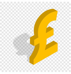 sign of pound sterling isometric icon vector image