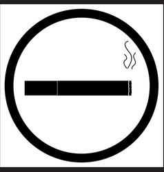 sign zone smoke vector image