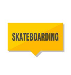 Skateboarding price tag vector