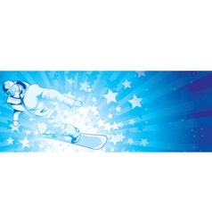Snowboarder with stars vector