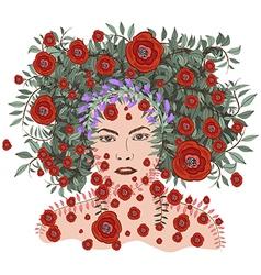 Spring Time Fantasy floral soul vector image