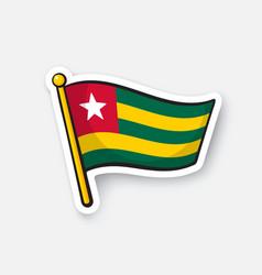 Sticker flag togo vector
