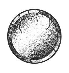 Stone circle sketch vector