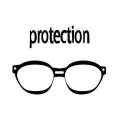 sunglasses protection from prying eyes vector image