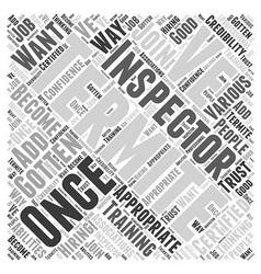 Termite Inspector Word Cloud Concept vector image