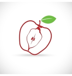 The apple symbol icon vector image