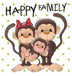 Three monkeys vector